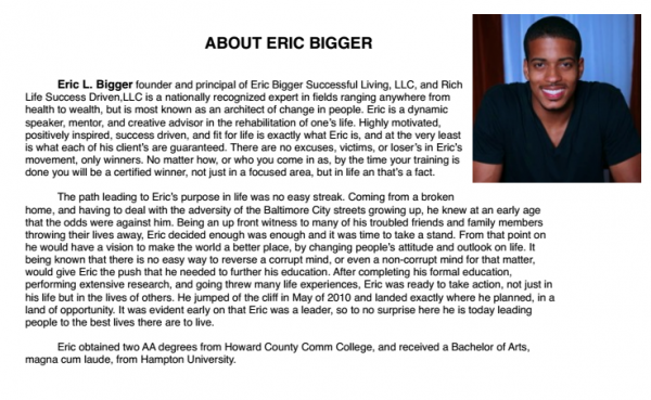 YouTube Channel Eric Bigger