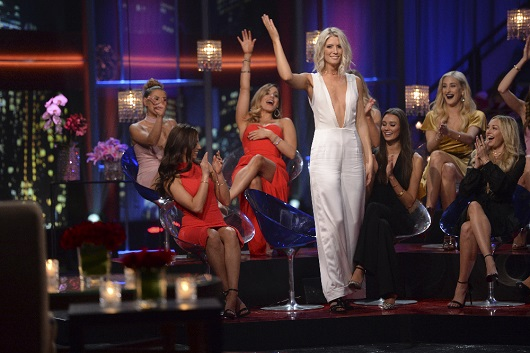 "THE BACHELOR - ""Episode 2111 - The Women Tell All"" - Tempers flare and there are plenty of fireworks, as 19 of the most memorable women this season are back to confront Nick and tell their side of the story. There were highs and lows during Nick's unforgettable season - and then there was Corinne, the most controversial bachelorette of the group. The very self-confident Corinne, who has been the woman viewers and the other bachelorettes have loved to hate, returns to have her chance to defend herself. Rachel, the recently announced new Bachelorette, shares some insight into how she plans to handle her search for love.  Danielle L. and Kristina attempt to get some closure to their sudden and heart-wrenching break-ups. Then, take a sneak peak at the dramatic season finale and Nick's final two women, on ""The Bachelor: The Women Tell All,"" MONDAY, MARCH 6 (9:01-11:00 p.m. EST), on The ABC Television Network. (ABC/Michael Yada) DANIELLE M."